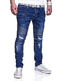 MT Styles Slim Fit style Biker Jeans pantalon homme RJ-3178