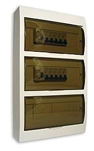 Zenitech - Coffret distribution électrique 39 modules Blanc 10 disjoncteurs + 2 interrupteurs différentiels