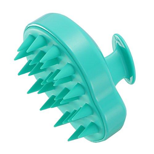 Frcolor shampoo cuoio capelluto testa doccia scrub corpo con funzione massaggiante massaggio spazzola di pulizia clean hair brush (ciano)