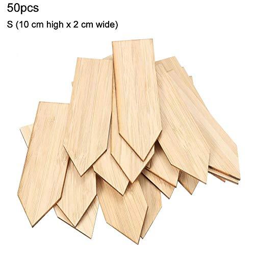 Ingeniously Pflanzenetiketten Bambuspflanzenetiketten 50 STK. Holzbaumschulen-Markierungen Pflanzenschild-Markierungen Öko-Garten Bambuspflanzenetiketten Baumschulen-Markierungen