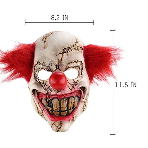 Demon Killer Clown Maske, Latex Scary Clown Vollgesichtsmaske Halloween Kostüm Gruselige Party Horror - Scary Killer Clown Kostüm