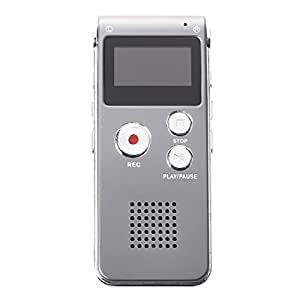 SODIAL(R) OLED ENREGISTREUR VOCAL VOICE NUMERIQUE DICTAPHONE 8GB