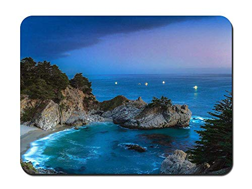 Pfeiffer Big Sur State Park (Mouse Pad - Mcway Falls Julia Pfeiffer Burns State Park Big Sur Sunset - Customized Rectangle Non-Slip Rubber Mousepad Gaming Mouse Pad)