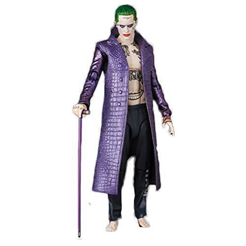 Fanstyle Suicide Squad X Task Force violett Leder Windjacke Hose Jerry De Lato Mantel (Der Joker Kostüm Jared Leto)