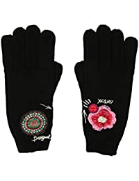 Desigual Gloves_Yeah, Guantes Para Mujer, Negro (Negro 2000), Talla Única (Talla Del Fabricante: One Size)