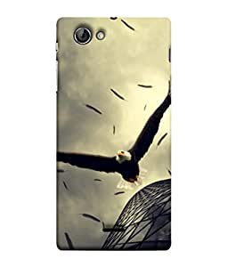 Fuson Designer Back Case Cover for Sony Xperia J :: Sony Xperia J ST26i :: Sony Xperia J ST26a (Eagle Vulture Fly Blocks Building )