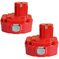 2Packs Forrat 18V 3000mAh Ni-MH Battery Replace for Makita PA18 1822 1823 1834 1835 192826-5 192827-3 192829-9 193159-1 193140-2 193102-0 194105-7 Fit for Makita 4334D 5026DA
