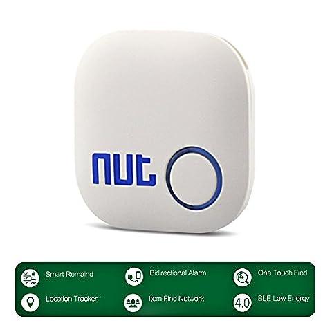 Key Finder, YANX Nut 2 Schlüsselfinder GPS Bluetooth Phone Tracker Anti-verloren Zweiweg Schlüsselfinder Pfeifen für iOS/ iPhone/ iPod/ iPad/ Android (Super Finder-system)