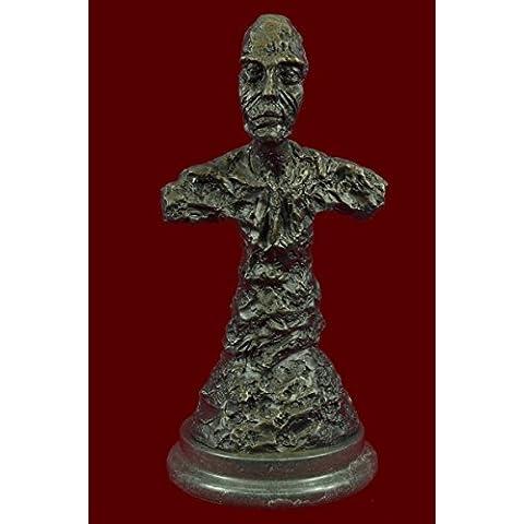 Statua di bronzo Scultura...Spedizione Gratuita...Firmato arte moderno Nude Male Decor Busto(DS-492-JP)Statue Figurine Figurine Nude per ufficio e casa Décor Primo Giorno Collezionismo Articoli da