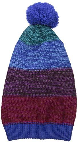 MUK LUKS Damen Women's Slouch Beanie Hut für kaltes Wetter, Blau (Porcelain Blue), Einheitsgröße Slouch Beanie