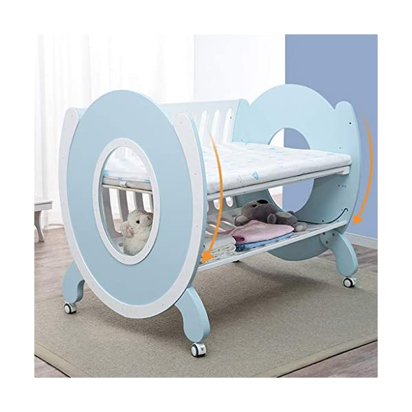 DUWEN-Cot bed Solid Wood Multifunctional Baby Cot European Toddler Bed Game Bed Children's Bed DUWEN-Cot bed 1. This perfect multi-functional crib is your baby's best gift. It gives the baby a space-like surprise experience, cultivates the baby's independent consciousness, and exercises the baby's hand and foot coordination ability. It is your best choice. 2. Multifunctional crib is made of environmentally friendly pine wood, which is tough and durable, not easy to crack and deform. The load is up to 120KG. The crib is made of safe and environmentally friendly paint. It is non-irritating and harmless to the baby. Mother can buy with confidence. 3. The three pedestal positions of the crib are suitable for the baby's growth stage, improve visibility and ventilation in all directions, select the gear according to the baby's body and age, meet the baby's various growth needs, the space is larger, the use is more comfortable. 4