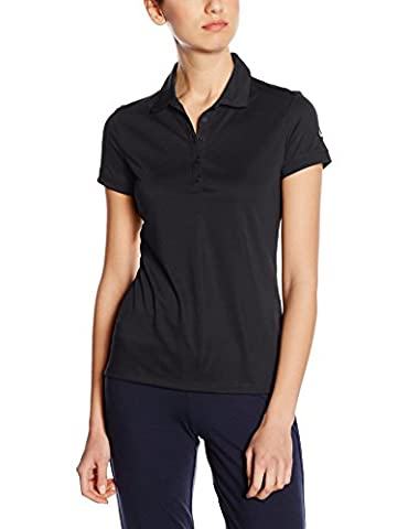 Nike Victory Solid Polo manches courtes Femme Noir/Blanc FR : XL (Taille Fabricant : XL)