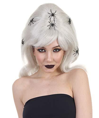 THEHAIRDROBE Sexy Spinne Hexe Geist blonde Sexbombe Halloween Horror Kostüm Perücke HW-133 (Perücke Halloween-geist Rosa)