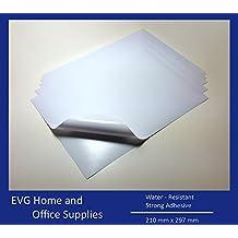 10hojas impermeables A4blanco de alta calidad vinilo mate adhesiva Sticky láser imprimible