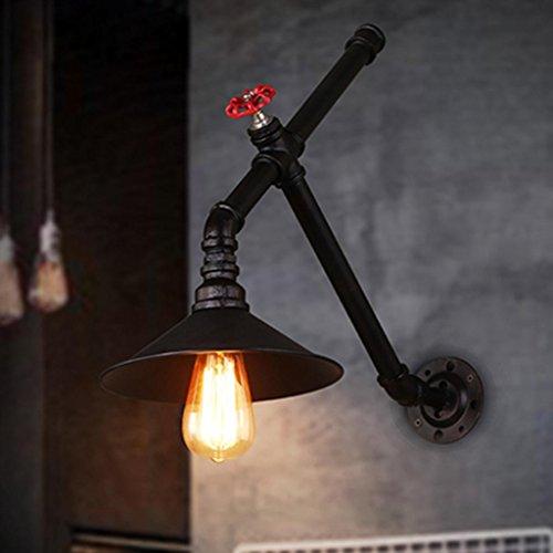 DZW Nordic Rétro Style Industriel Mur Lampe De Fer Tuyau Mur Lampe Bar Restaurant Loft Allée Éclairage Décoratif, Lumière E27 * 1, Taille 22 * 45 cm,Simple