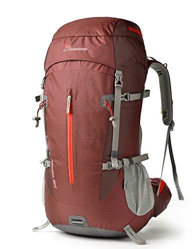 HWLXBB Outdoor Bergsteigen Tasche Männer und Frauen 50L Wasserdichte Mehrzweck-Bergsteigen Tasche Wandern Camping Bergsteigen Freizeit Rucksack Rucksack 2*