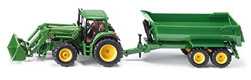 Siku - 3863 - Véhicule sans piles - Tracteur avec chargeur et benne besculante - 1,32ème -métal