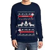 Maglione di Natale da Uomo con Motivi Natalizi per Uomo e Donna 19033-ma XXXL Unisex con Maglione Divertente Ugly