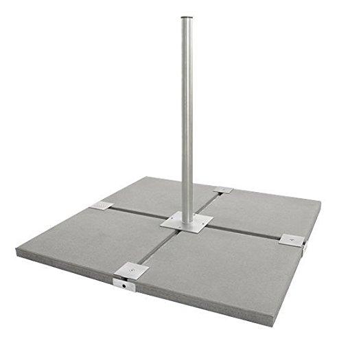 Sat Standfuß/Flachdachständer/Balkonständer H: 85cm Ø:48mm,für 4Betonplatten (50 cm) feuerverzinkt 4X50SV rostfrei