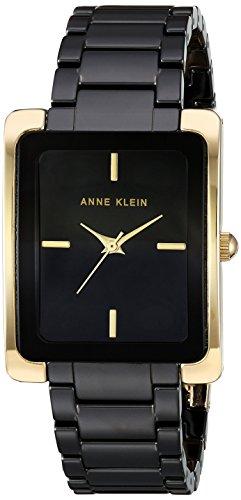 Anne Klein Women's AK-2952BKGB Black Ceramic Japanese Quartz Fashion Watch