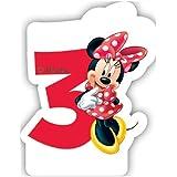 Café Disney Minnie Mouse 3rd Birthday Candle