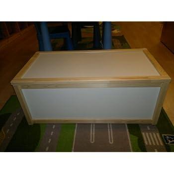 Ikea Wooden Storage Box Toy Box Pine And White Amazon