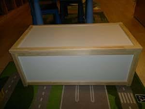 ikea wooden storage box toy box pine and white amazon. Black Bedroom Furniture Sets. Home Design Ideas