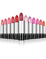 Anself 12Pcs/set Glossy The Balm Lip Rouge Easy To Wear Lipstick 12 Colors Fashion Women Beauty Makeup