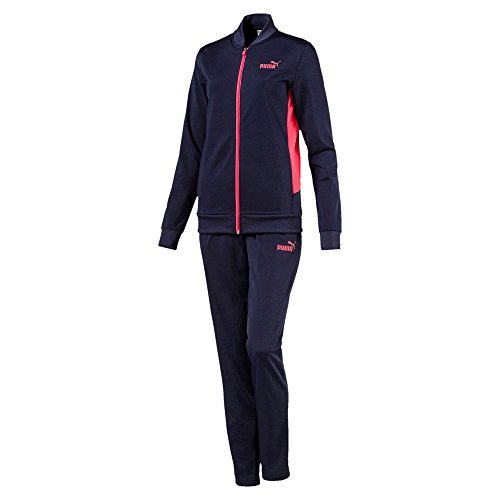 PUMA Erwachsene Classic Tricot Suit, Op Trainingsanzug, Peacoat-Paradise Pink, L (Damen Schwarz Trainingsanzug)