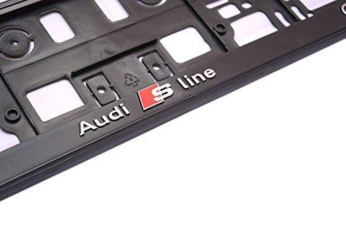 Preisvergleich Produktbild IPRIME 3D Effekt Lizenz Kennzeichenhalter Kennzeichenhalterung Nummernschildhalter 1 Paar ( 2 Stück)