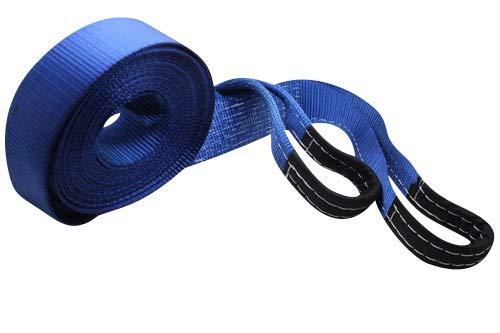 DiversityWrap 7T - Correa de Remolque Resistente para Remolque, 4 x 4 mm, 2 grilletes Azules