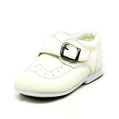 Babys jungen White patent Schnalle Schuhe Weiß