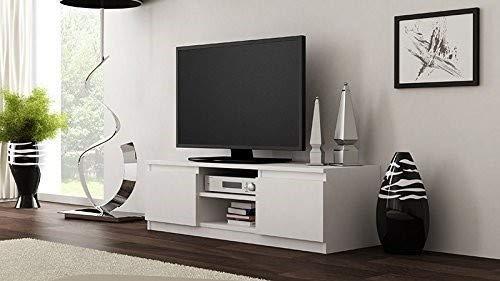 TV-Lowboard Board Schrank Fernsehtisch TV-Möbel (Weiß) - 3