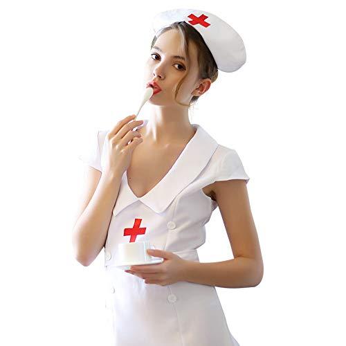 Halloween Ghost Nurse Kostüm Cosplay Set,C,M (Kostüm Ghost Nurse)