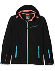 Peak Mountain Amala/Ks/A - Chaqueta para mujer, color Negro/Azul, talla S (talla del fabricante: 1)