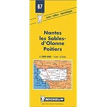 Carte routière : Nantes - Les Sables - Poitiers, N°67