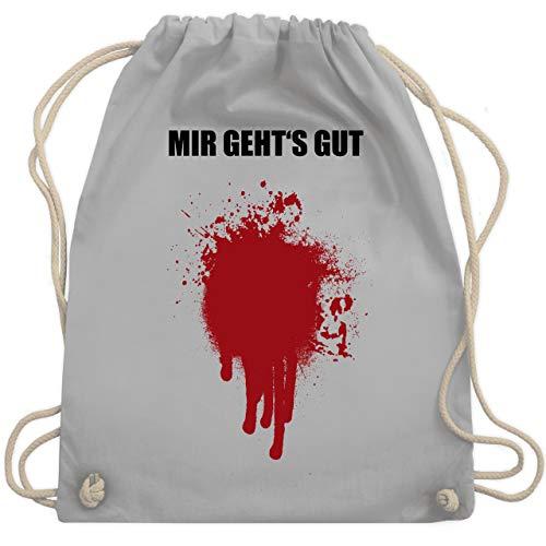 (Halloween - Mir geht's gut Blutfleck Kostüm - Unisize - Hellgrau - WM110 - Turnbeutel & Gym Bag)