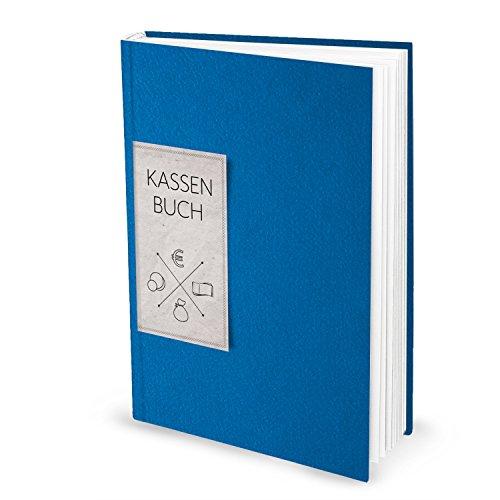 Ordnungsgemäßes Kassenbuch DIN A4 (Hardcover) in blau für Barzahlungen zur einfachen Übersicht der Finanzen und Geld-Einnahmen und Ausgaben; 148 Seiten; ideal auch als Geschenk! 1a Qualität