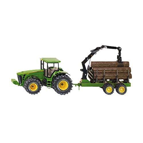 Siku 1954 - Traktor mit Forstanhänger - John Deere Harvester