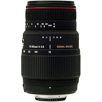 Sigma 70-300 mm F4,0-5,6 DG APO Makro-Objektiv (58 mm Filtergewinde) für Canon Objektivbajonett