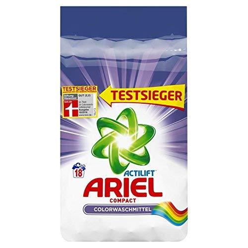 Ariel Compact Colorwaschmittel Pulver, 5er Pack (5x1350g), 18Waschladungen