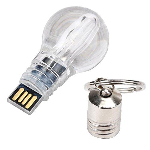 Hunpta USB 2.0 128/64/32/16/8/4/2 GB blaue LED Licht Leuchte Lampe Modell Speicher Flash Stick Stift fahren U Disk (8 GB) (Lampe Speicher)