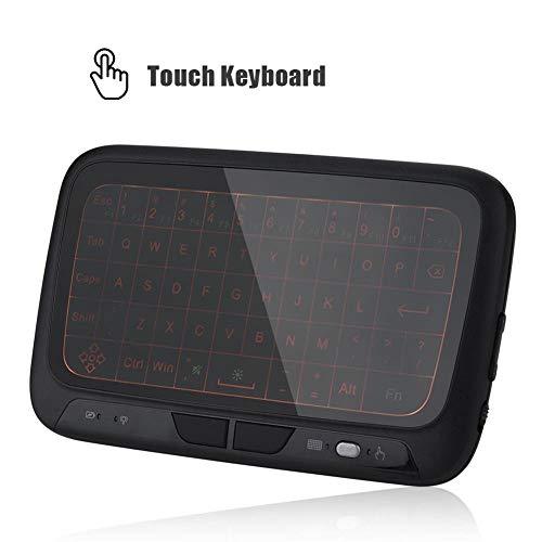 ASHATA Wireless Keyboard, 2.4 GHz Mini Wireless Tastatur Hintergrundbeleuchtung Maus Touchpad,Mini Air Maus Drahtlose Tastatur Fernbedienung für PC/Tablette/HTPC/IPTV Android TV Box usw.