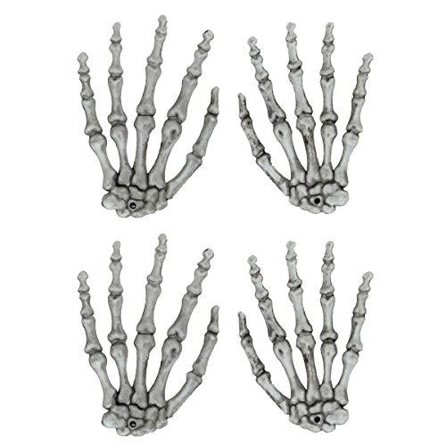 NUOBESTY Adipositas 2 Paare Spukhaus Skelett Hand Klaue Party Bar Dekorationen