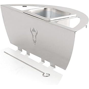 Bbq toro affumicatore per barbecue midland in acciaio for Affumicatore portatile