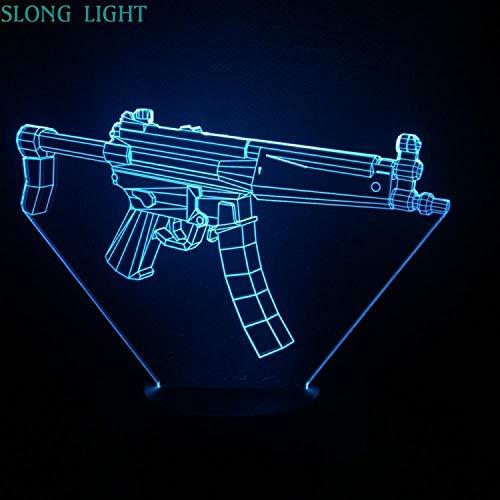 Zcmzcm 3D Nachtlichter Maschinenpistole Nachtlicht Led 3D Illusion Usb Touch Sensor Rgb Kind Kinder Geschenk Spiel Waffe Pistole Tischlampe Schreibtisch