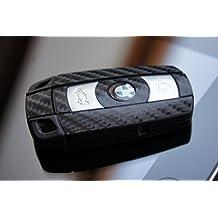 4D Carbon SCHWARZ Folie für Ihren Schlüssel vom BMW E60 E61 E65 E81 E90 E91 E92 E93 E83 X1 X3 X5 Z4 1er 3er 5er 6er 7er von WIZUALS