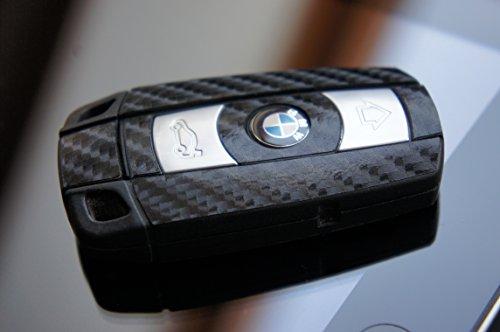 4D-Carbon-SCHWARZ-Folie-fr-Ihren-Schlssel-vom-BMW-E60-E61-E65-E81-E90-E91-E92-E93-E83-X1-X3-X5-Z4-1er-3er-5er-6er-7er-von-WIZUALS