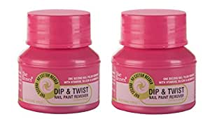 Blue Heaven Dip & Twist Nail Paint Remover, 40ml/PC, (PACK OF 2)