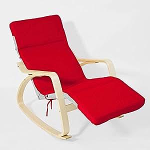 sobuy schutzh lle bezug f r schaukelstuhl schonbezug auflage 100 baumwolle rot fsb01 r. Black Bedroom Furniture Sets. Home Design Ideas